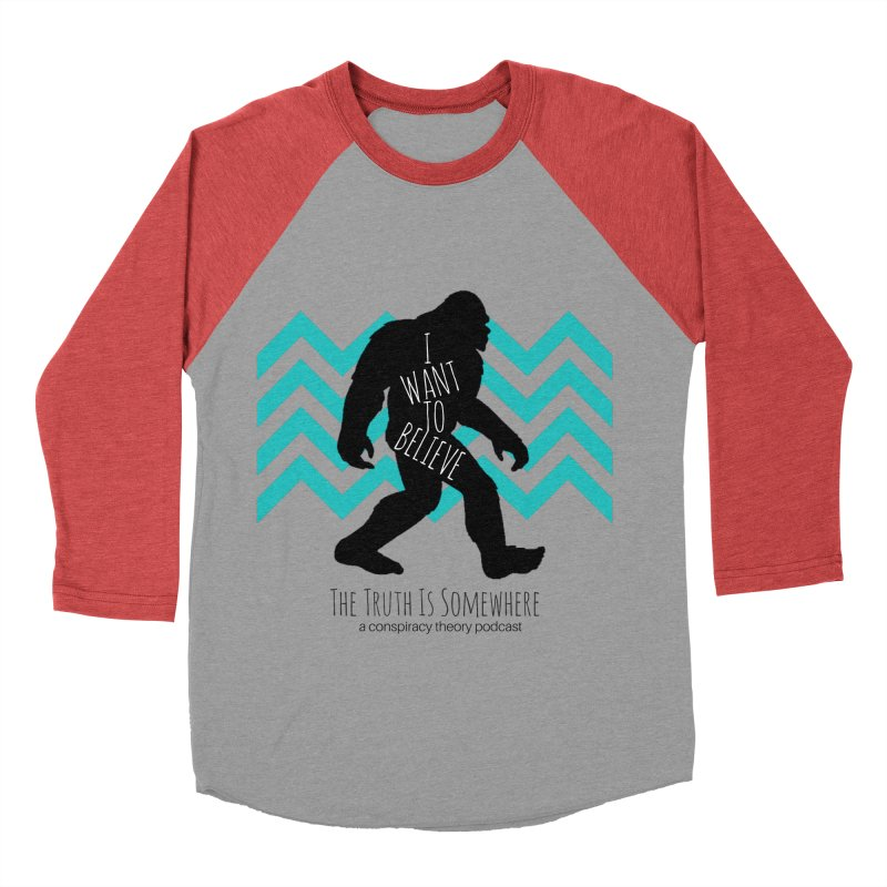 I Want To Believe Women's Baseball Triblend Longsleeve T-Shirt by The Truth Is Somewhere