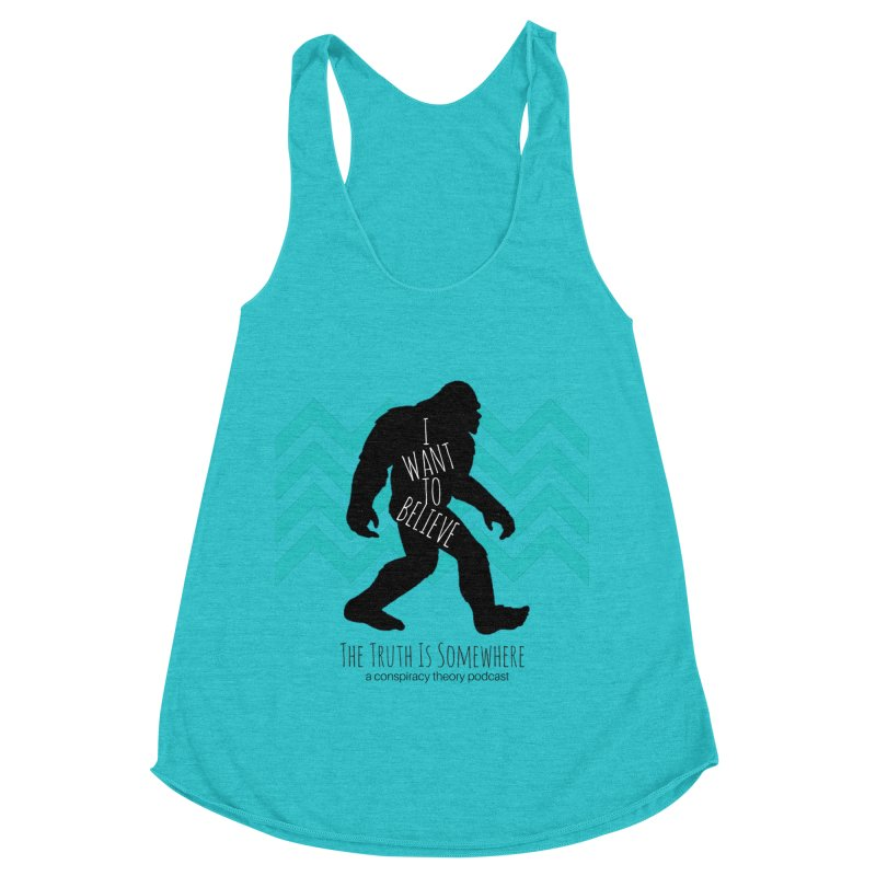 I Want To Believe Women's Racerback Triblend Tank by The Truth Is Somewhere