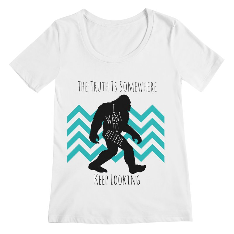 Look and Believe Women's Regular Scoop Neck by The Truth Is Somewhere