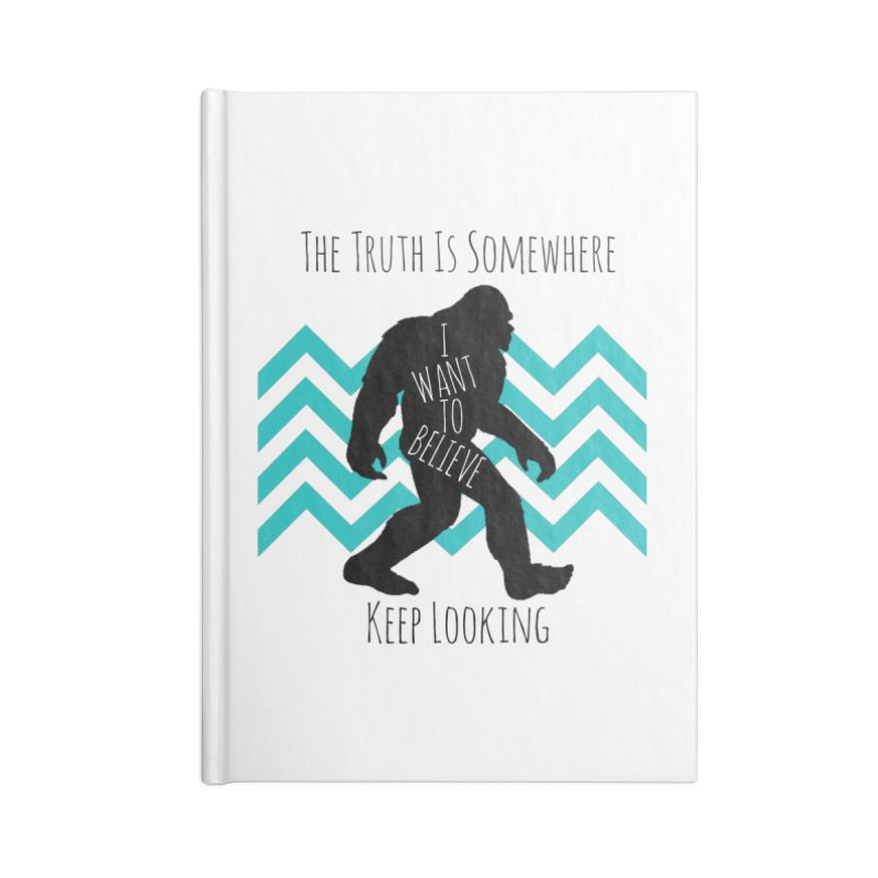 Look and Believe Accessories Lined Journal Notebook by The Truth Is Somewhere