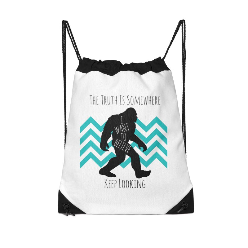 Look and Believe Accessories Drawstring Bag Bag by The Truth Is Somewhere