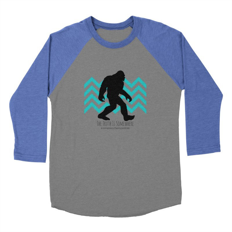 Bigfoot Is Somewhere Men's Baseball Triblend Longsleeve T-Shirt by The Truth Is Somewhere