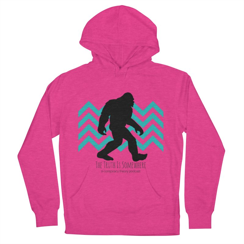 Bigfoot Is Somewhere Women's French Terry Pullover Hoody by The Truth Is Somewhere