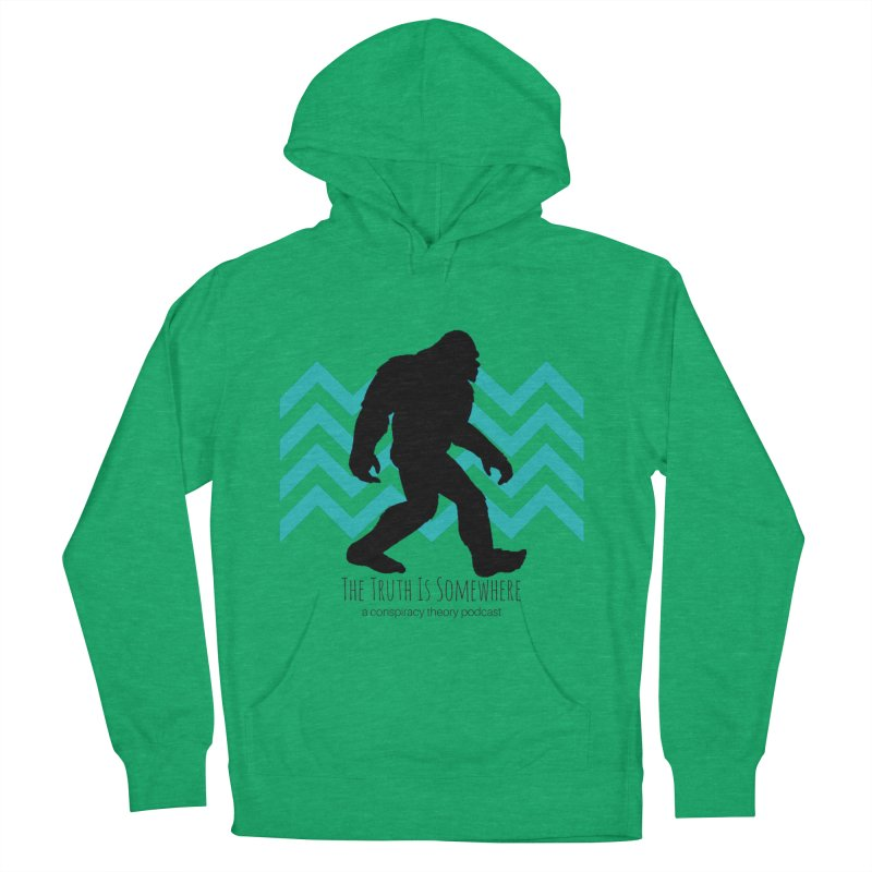 Bigfoot Is Somewhere Men's French Terry Pullover Hoody by The Truth Is Somewhere
