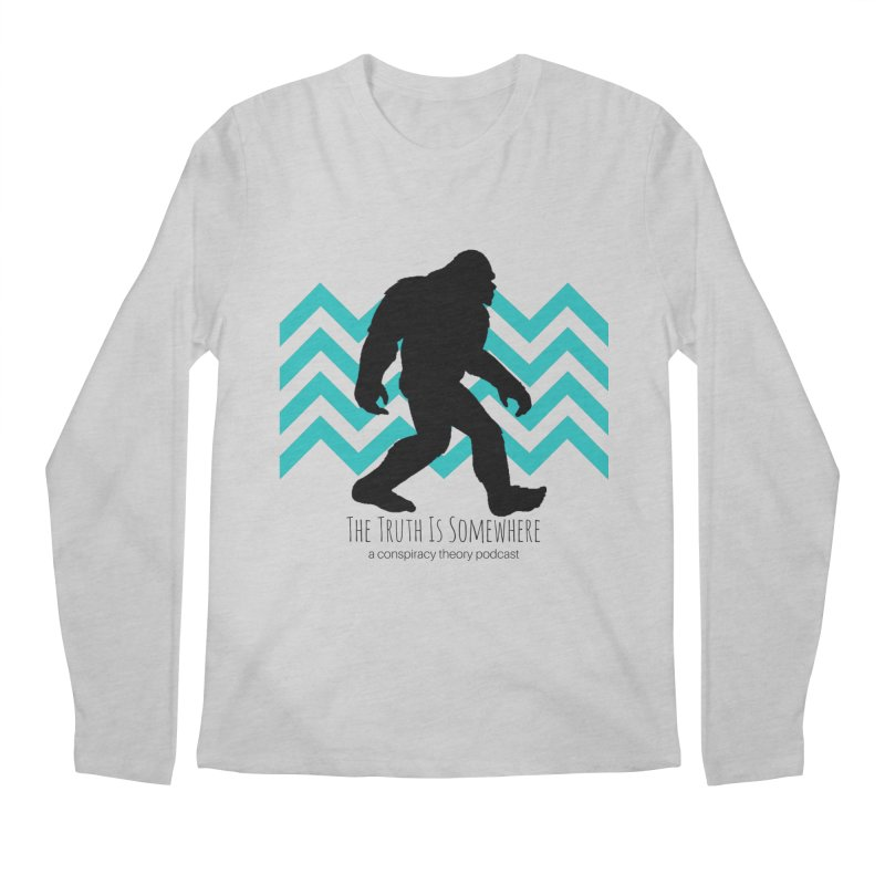 Bigfoot Is Somewhere Men's Regular Longsleeve T-Shirt by The Truth Is Somewhere