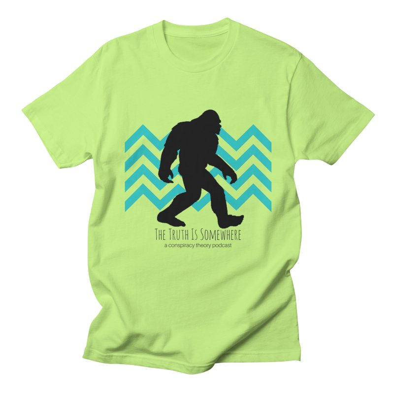 Bigfoot Is Somewhere Men's Regular T-Shirt by The Truth Is Somewhere