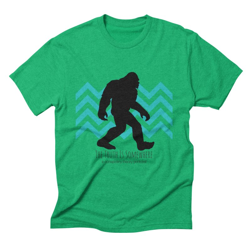Bigfoot Is Somewhere Men's Triblend T-Shirt by The Truth Is Somewhere