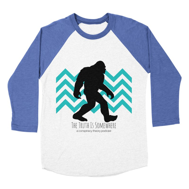 Bigfoot Is Somewhere Women's Baseball Triblend Longsleeve T-Shirt by The Truth Is Somewhere