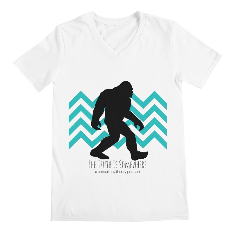 Bigfoot Is Somewhere Men's V-Neck by The Truth Is Somewhere