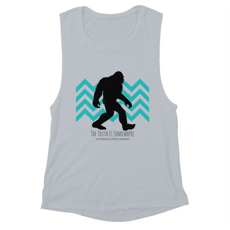 Bigfoot Is Somewhere Women's Muscle Tank by The Truth Is Somewhere
