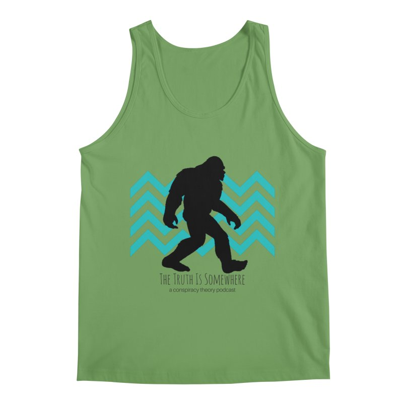 Bigfoot Is Somewhere Men's Tank by The Truth Is Somewhere