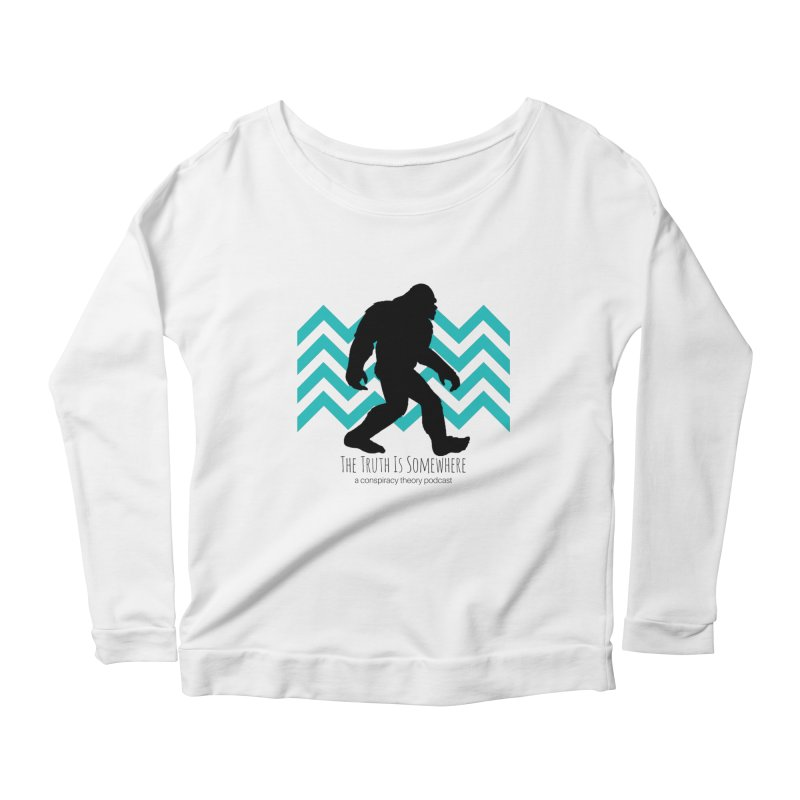 Bigfoot Is Somewhere Women's Scoop Neck Longsleeve T-Shirt by The Truth Is Somewhere