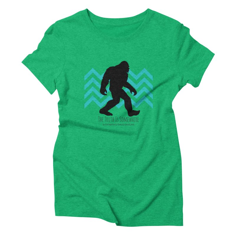 Bigfoot Is Somewhere Women's Triblend T-Shirt by The Truth Is Somewhere