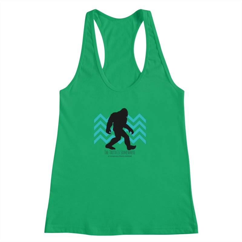 Bigfoot Is Somewhere Women's Racerback Tank by The Truth Is Somewhere