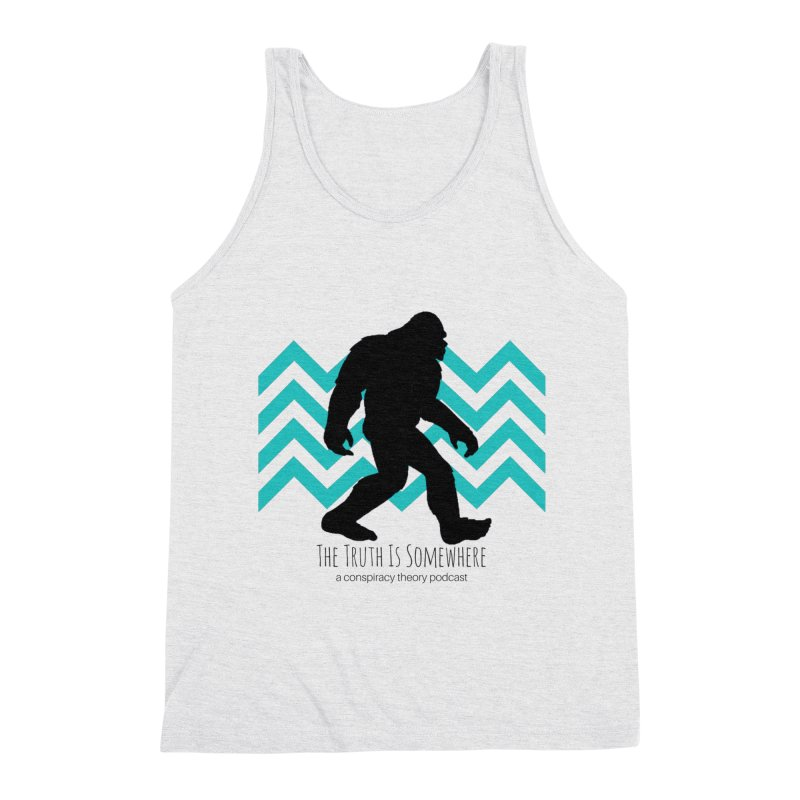 Bigfoot Is Somewhere Men's Triblend Tank by The Truth Is Somewhere