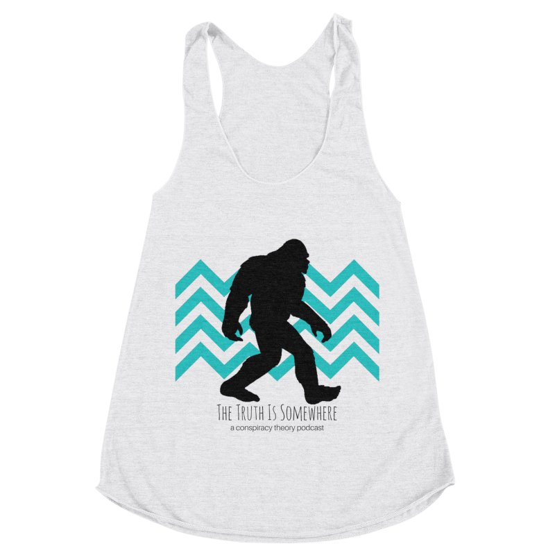Bigfoot Is Somewhere Women's Racerback Triblend Tank by The Truth Is Somewhere