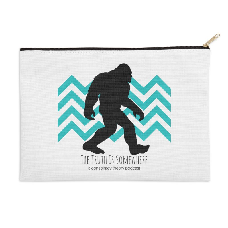 Bigfoot Is Somewhere Accessories Zip Pouch by The Truth Is Somewhere