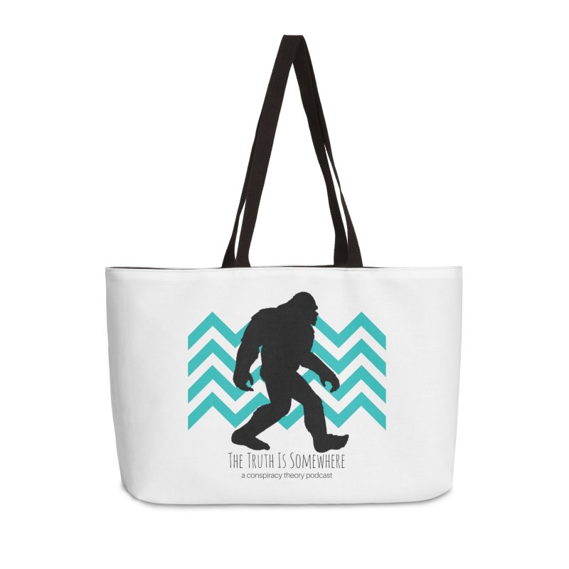 Bigfoot Is Somewhere Accessories Weekender Bag Bag by The Truth Is Somewhere