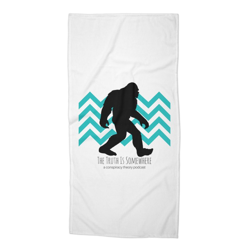 Bigfoot Is Somewhere Accessories Beach Towel by The Truth Is Somewhere