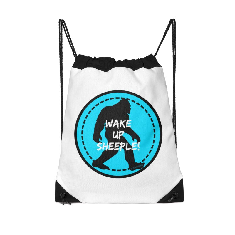 Wake Up Sheeple! Accessories Drawstring Bag Bag by The Truth Is Somewhere