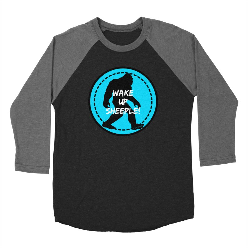 Wake Up Sheeple! Men's Baseball Triblend Longsleeve T-Shirt by The Truth Is Somewhere