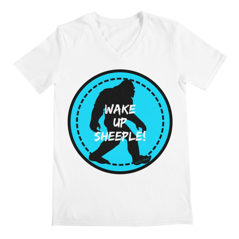 Wake Up Sheeple! Men's Regular V-Neck by The Truth Is Somewhere