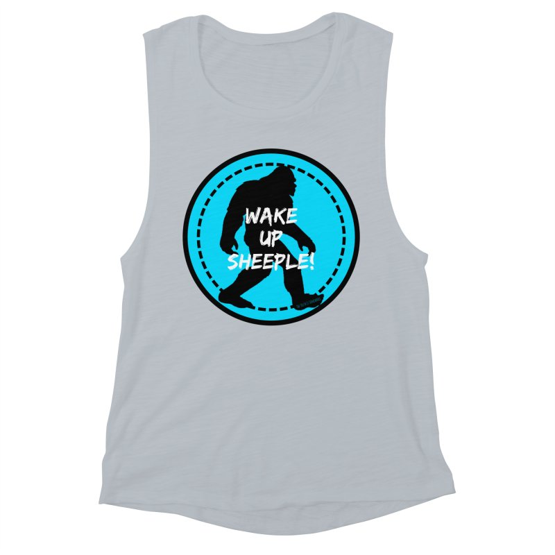 Wake Up Sheeple! Women's Muscle Tank by The Truth Is Somewhere