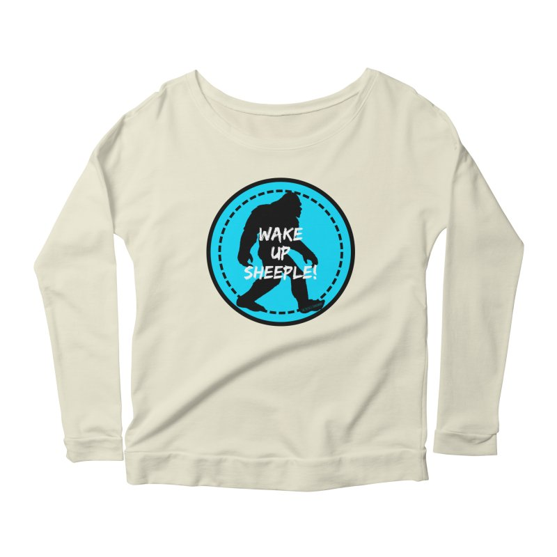 Wake Up Sheeple! Women's Scoop Neck Longsleeve T-Shirt by The Truth Is Somewhere