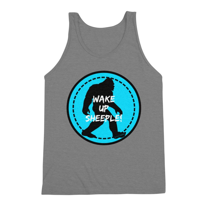 Wake Up Sheeple! Men's Triblend Tank by The Truth Is Somewhere