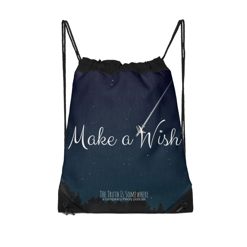 Make a Wish Accessories Drawstring Bag Bag by The Truth Is Somewhere