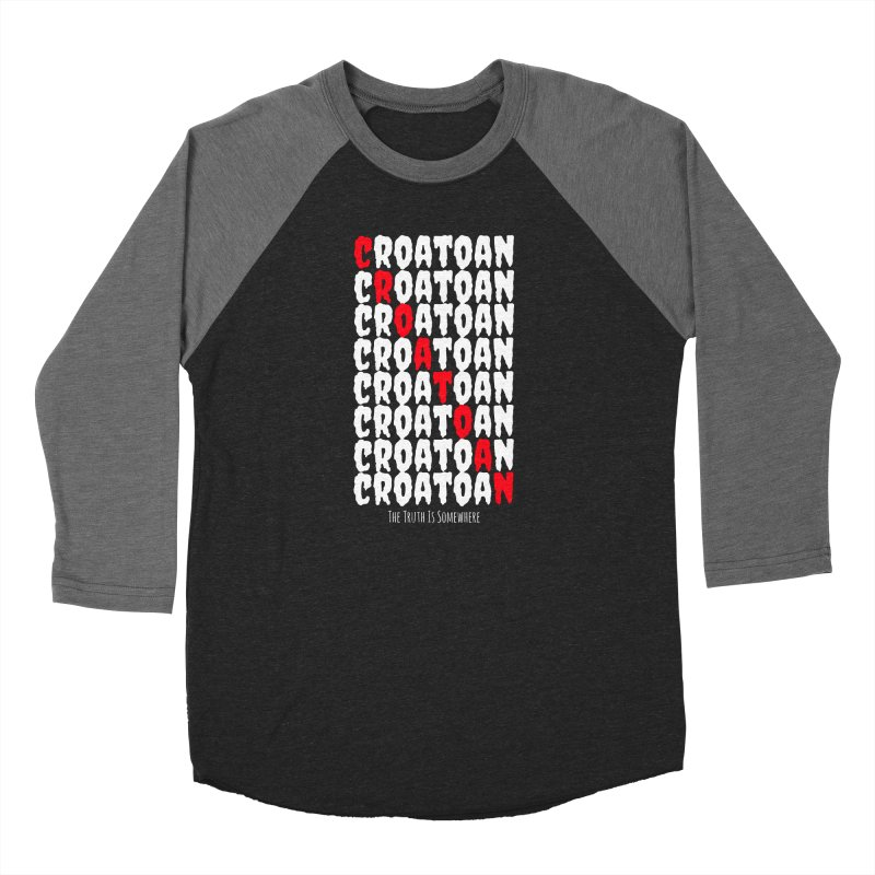 Croatoan Dark Women's Baseball Triblend Longsleeve T-Shirt by The Truth Is Somewhere