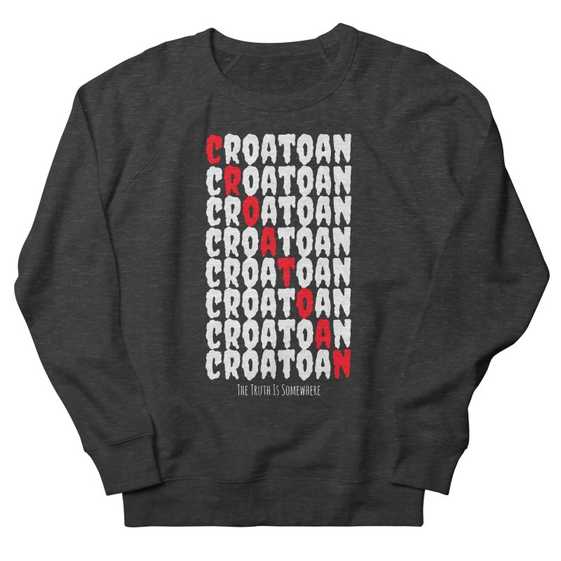 Croatoan Dark Men's French Terry Sweatshirt by The Truth Is Somewhere