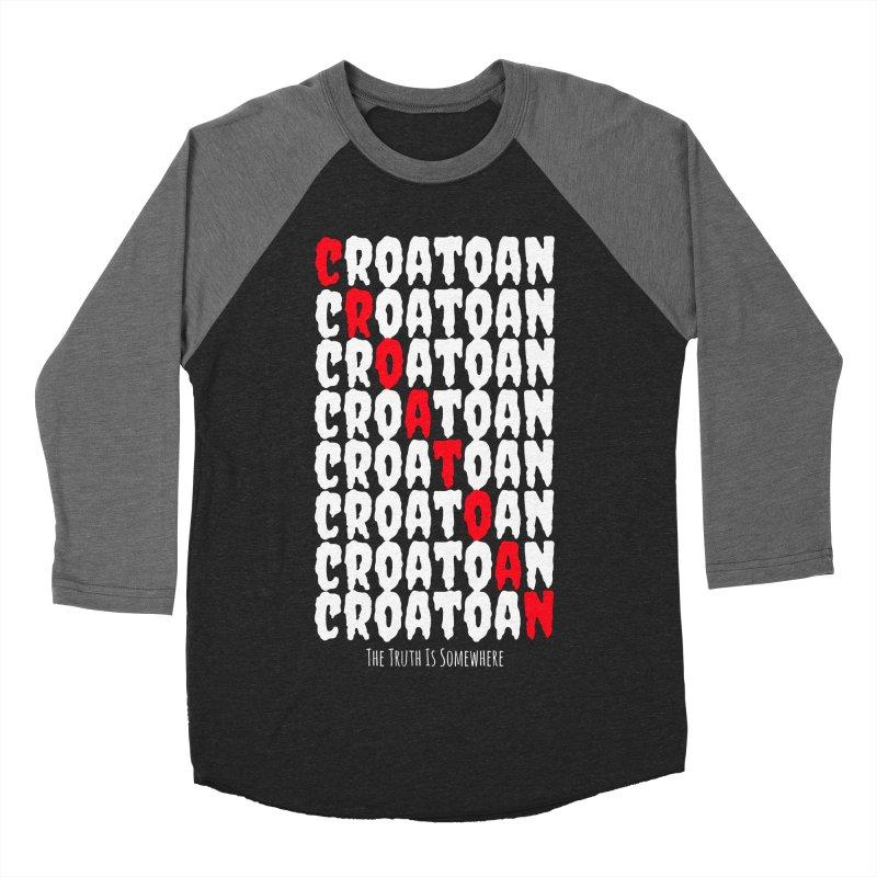 Croatoan Dark Women's Baseball Triblend Longsleeve T-Shirt by The Truth Is Somewhere