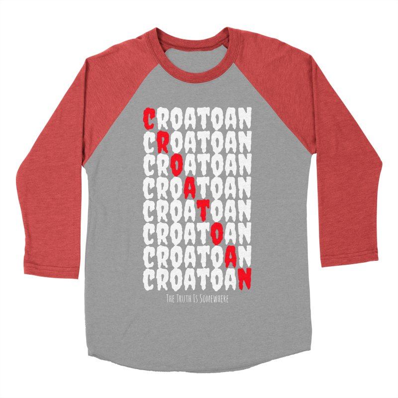 Croatoan Dark Men's Baseball Triblend Longsleeve T-Shirt by The Truth Is Somewhere