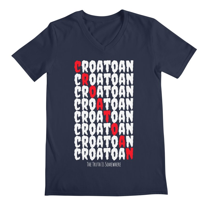 Croatoan Dark Men's V-Neck by The Truth Is Somewhere