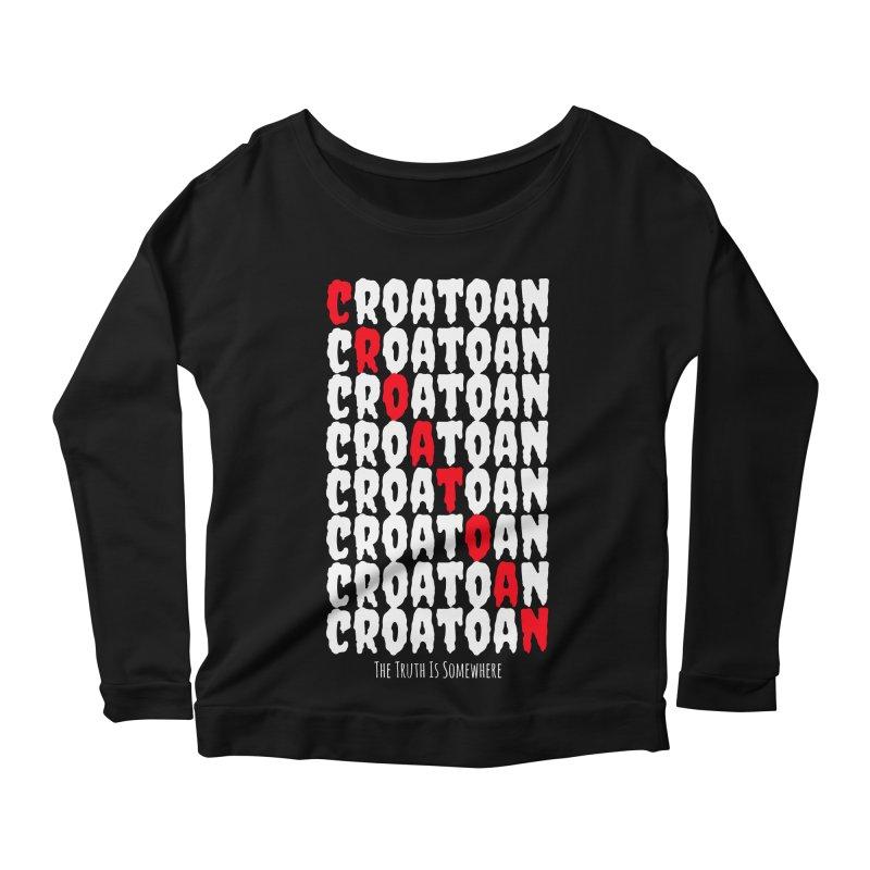 Croatoan Dark Women's Scoop Neck Longsleeve T-Shirt by The Truth Is Somewhere
