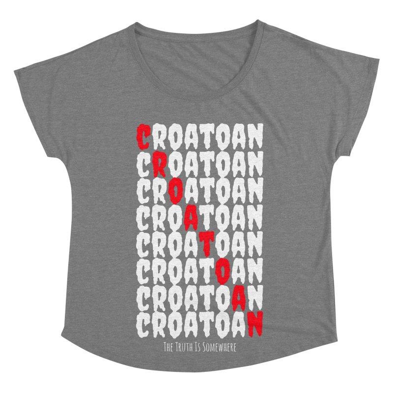 Croatoan Dark Women's Scoop Neck by The Truth Is Somewhere