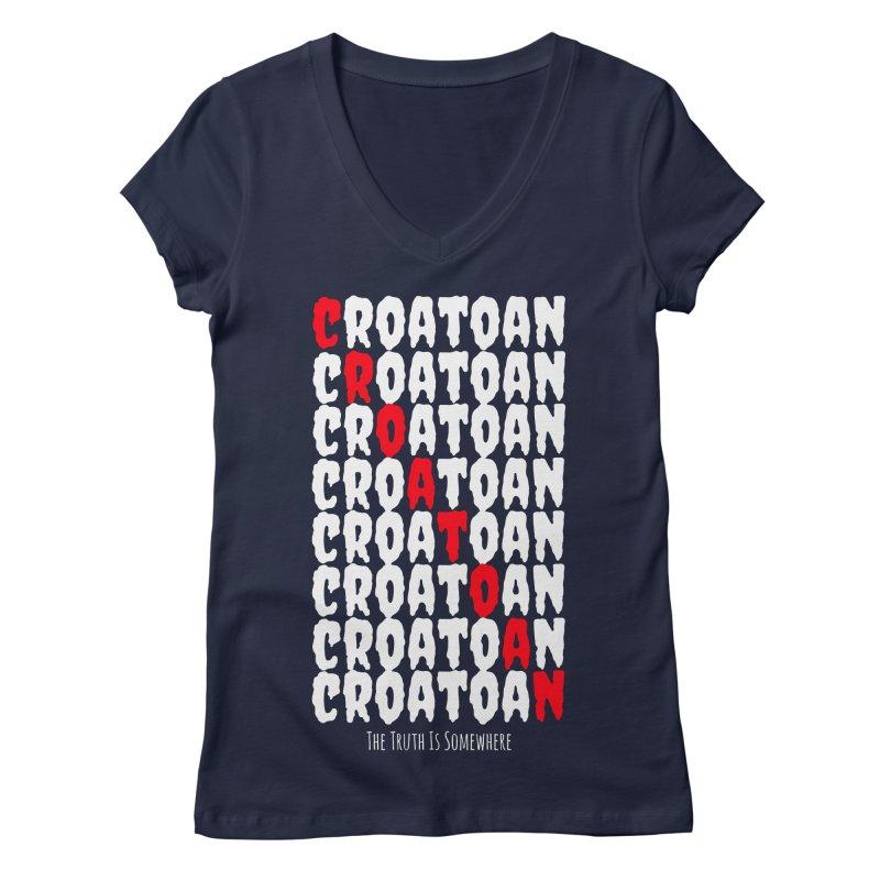 Croatoan Dark Women's Regular V-Neck by The Truth Is Somewhere