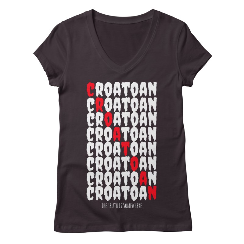 Croatoan Dark Women's V-Neck by The Truth Is Somewhere