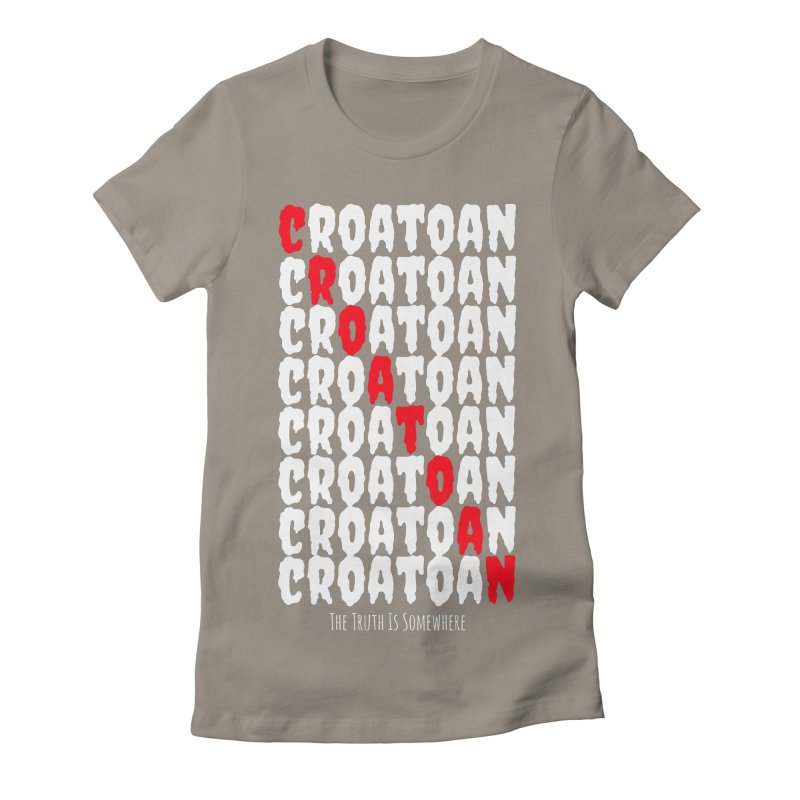 Croatoan Dark Women's Fitted T-Shirt by The Truth Is Somewhere