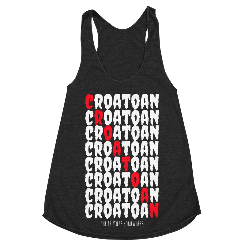 Croatoan Dark Women's Racerback Triblend Tank by The Truth Is Somewhere