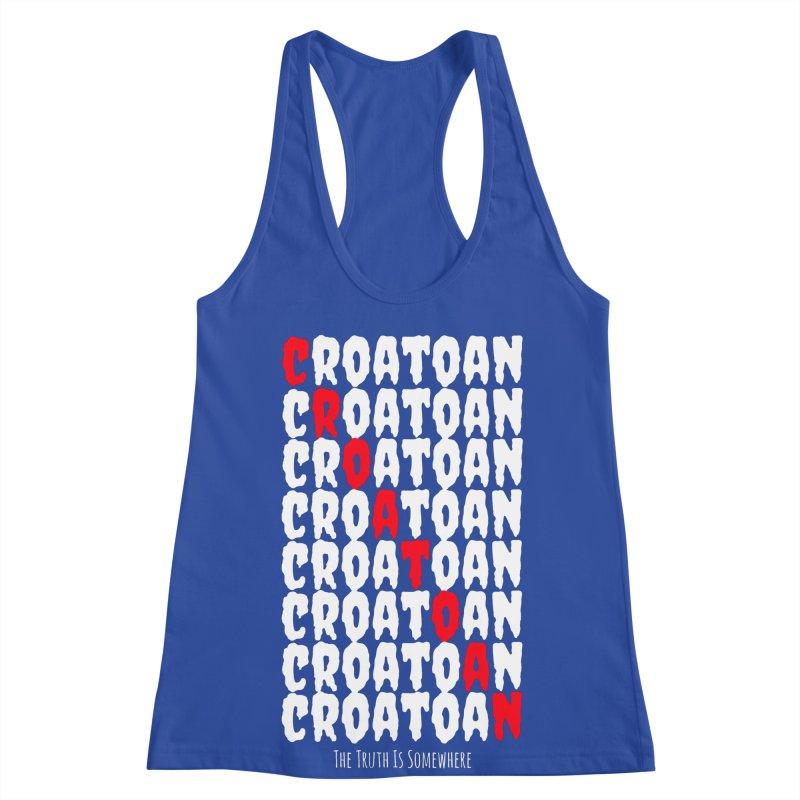 Croatoan Dark Women's Racerback Tank by The Truth Is Somewhere