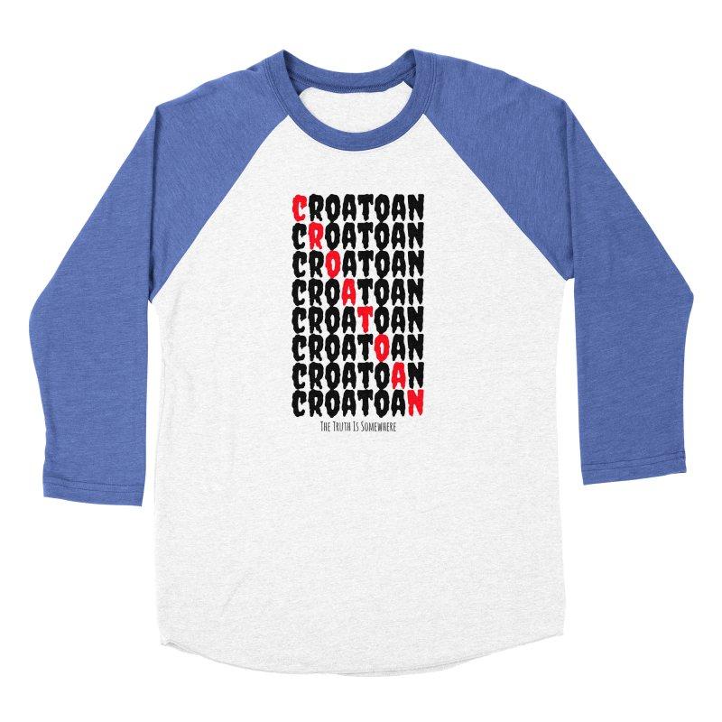 Croatoan Light Men's Baseball Triblend Longsleeve T-Shirt by The Truth Is Somewhere