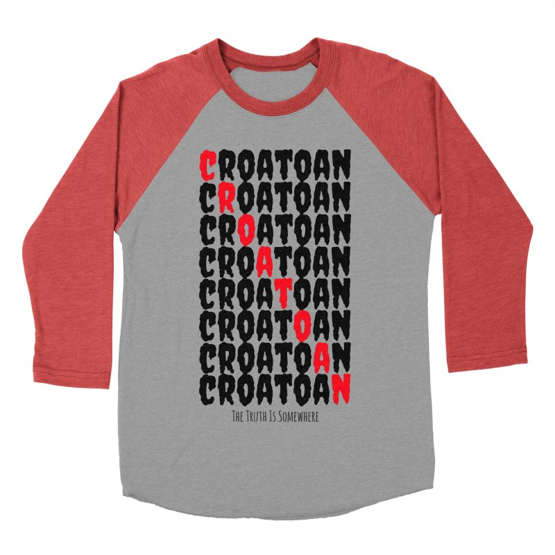 Croatoan Light Men's Baseball Triblend Longsleeve T-Shirt by The Truth Is Somewhere