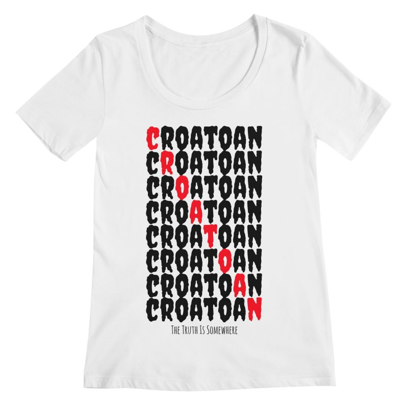 Croatoan Light Women's Regular Scoop Neck by The Truth Is Somewhere