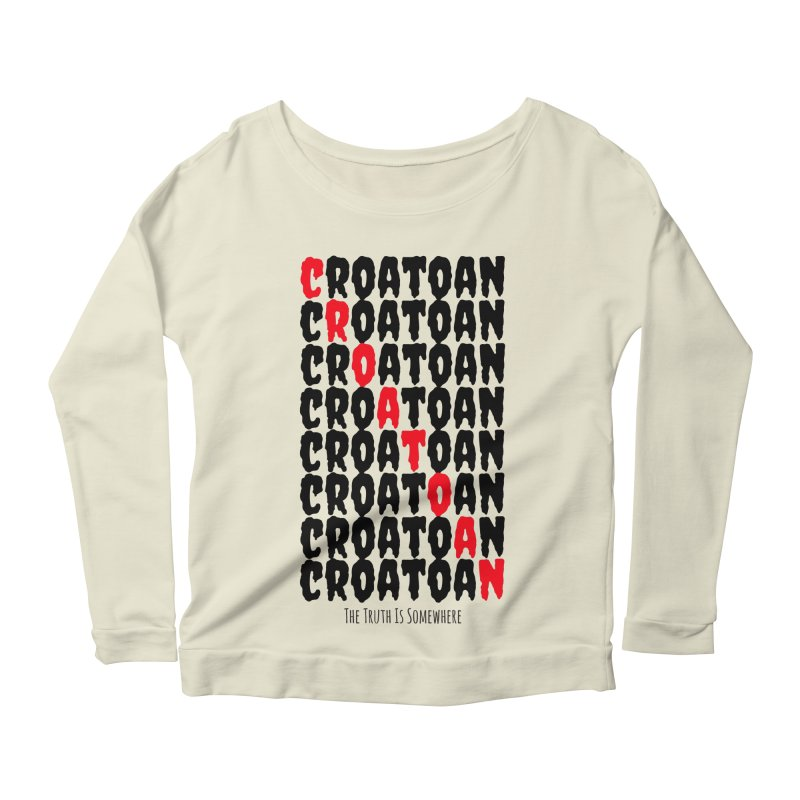 Croatoan Light Women's Scoop Neck Longsleeve T-Shirt by The Truth Is Somewhere