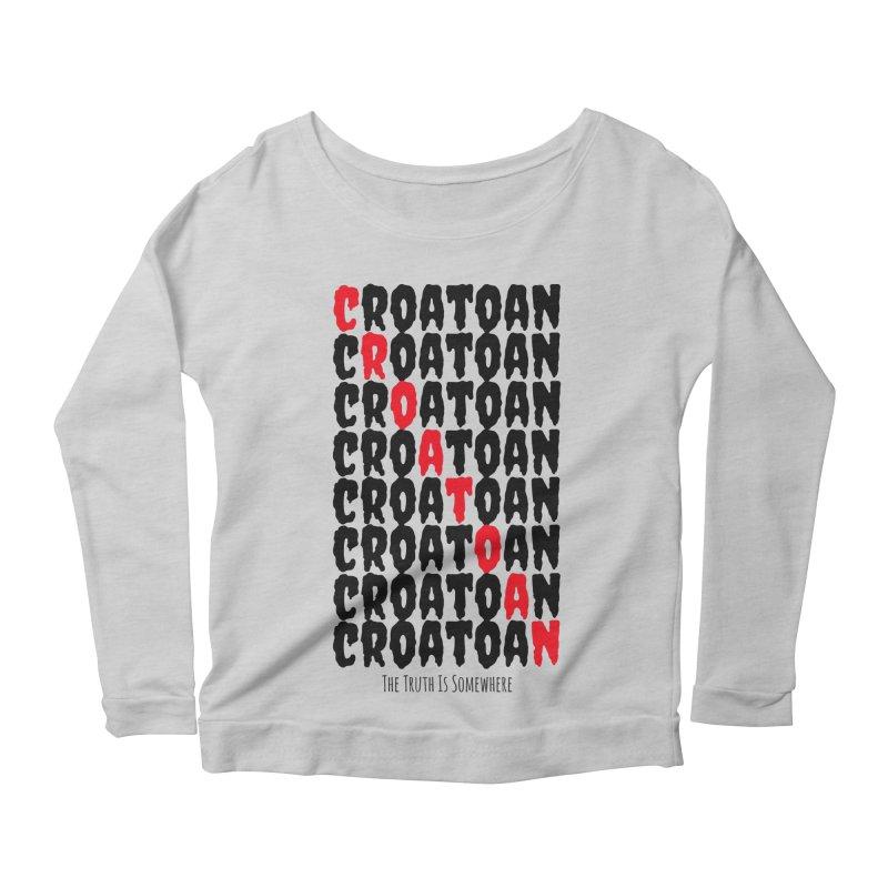 Croatoan Light Women's Scoop Neck Longsleeve T-Shirt by The Truth Is Somewhere