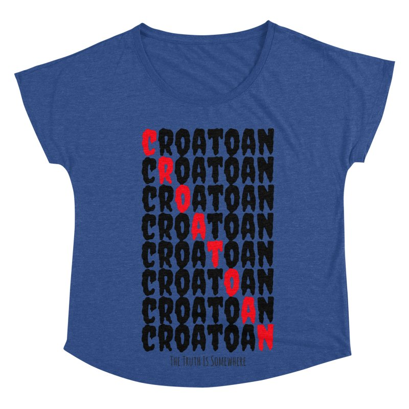Croatoan Light Women's Dolman Scoop Neck by The Truth Is Somewhere