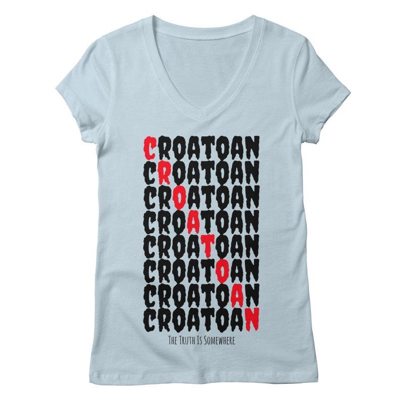 Croatoan Light Women's V-Neck by The Truth Is Somewhere