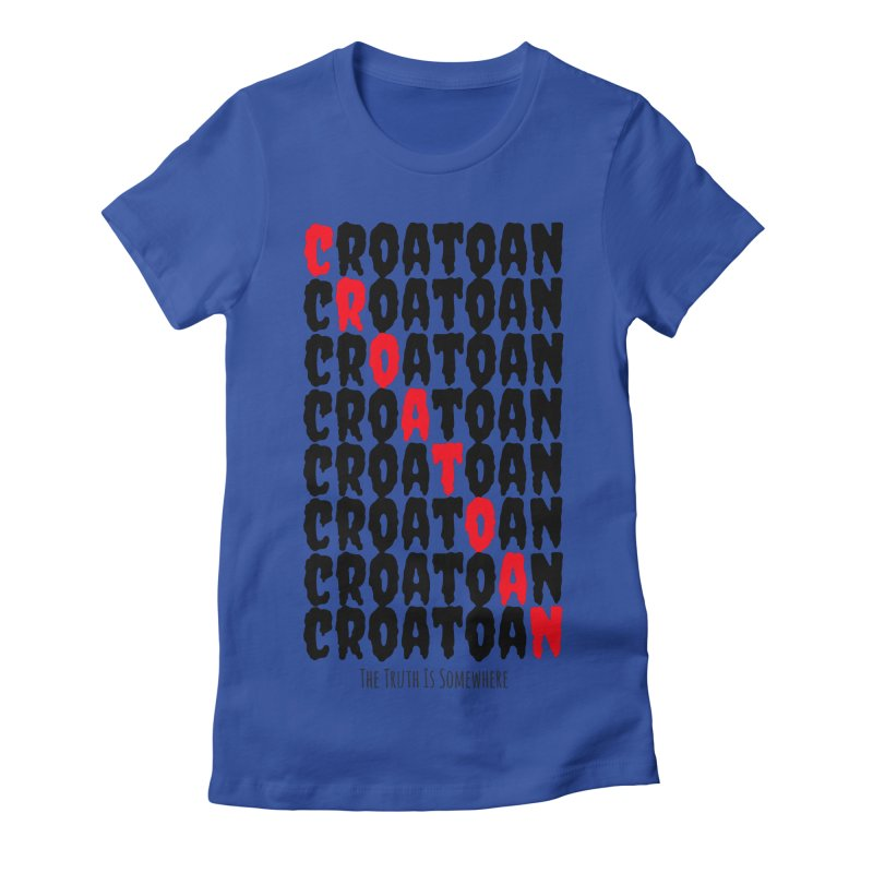 Croatoan Light Women's Fitted T-Shirt by The Truth Is Somewhere